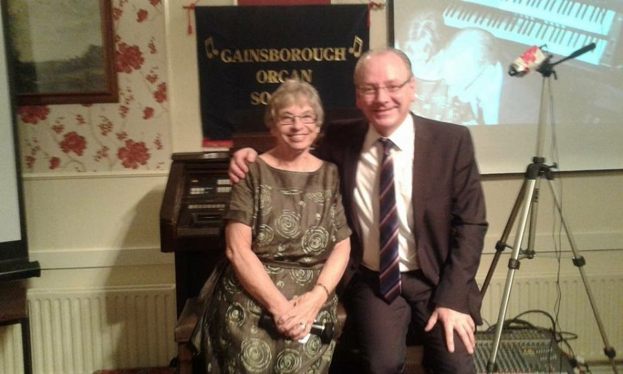 With Ann Naulls, Gainsborough Organ Society.