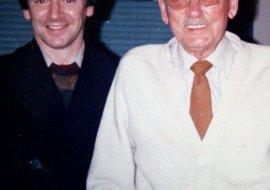 with Reginald Dixon, 1980