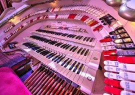 Tower Ballroom Wurlitzer, console detail