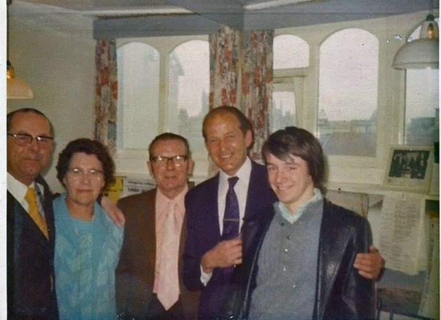 with Ernest Broadbent, 1974